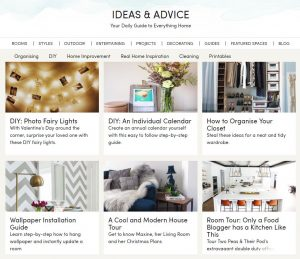 Wayfair Inspiration Webpage