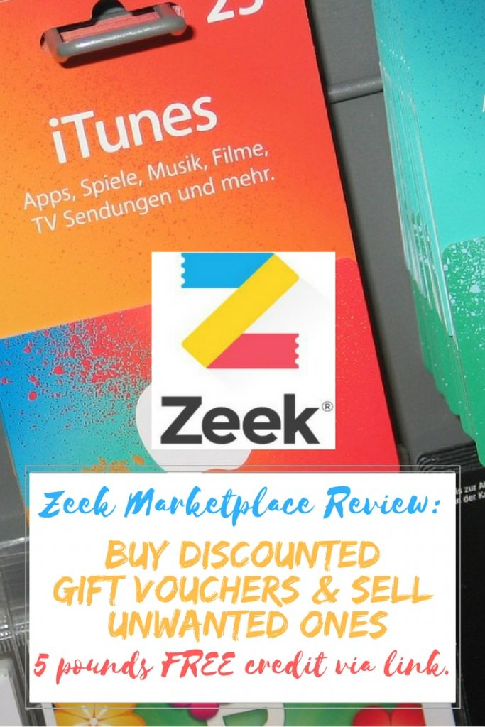 Zeek Gift Voucher Marketplace Review. Buy discounted vouchers and sell your unwanted vouchers with Zeek. Use my link to get FREE £5 credit when you join.