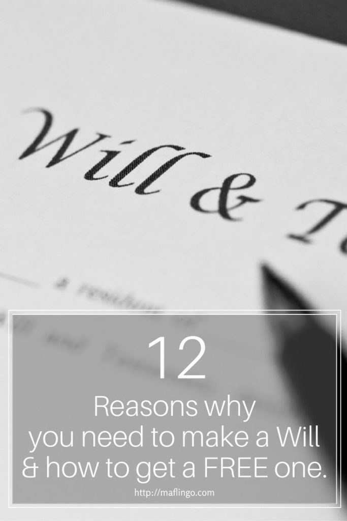 12 Reasons why you need to make a will & how to get a FREE WILL. If you don't make a will it can have consequences for your family and loved ones, causing financial grief as well as emotional grief.