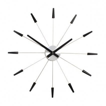Plug Inn Wall Clock Black - NexTime