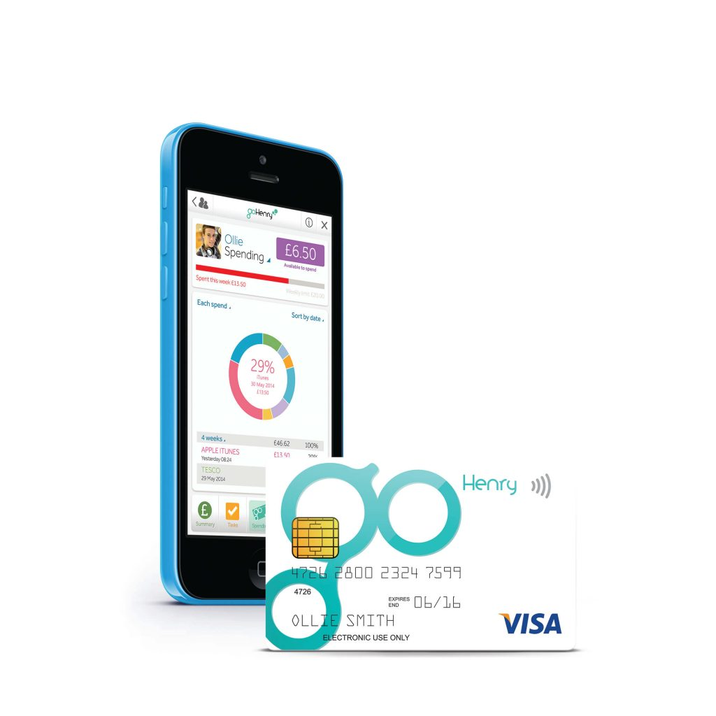 goHenry mobile app and card