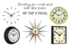 Searching for a wall clock with 'WOW' factor: My Top 5 picks.
