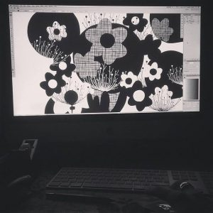 The print design process (black and white)