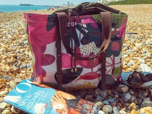 Tote bag on the beach