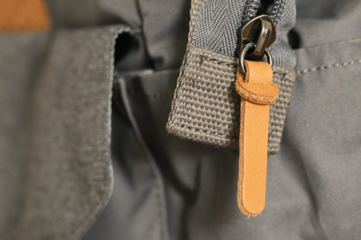 The Case Logic Lodo Satchel has Leather Zip pulls