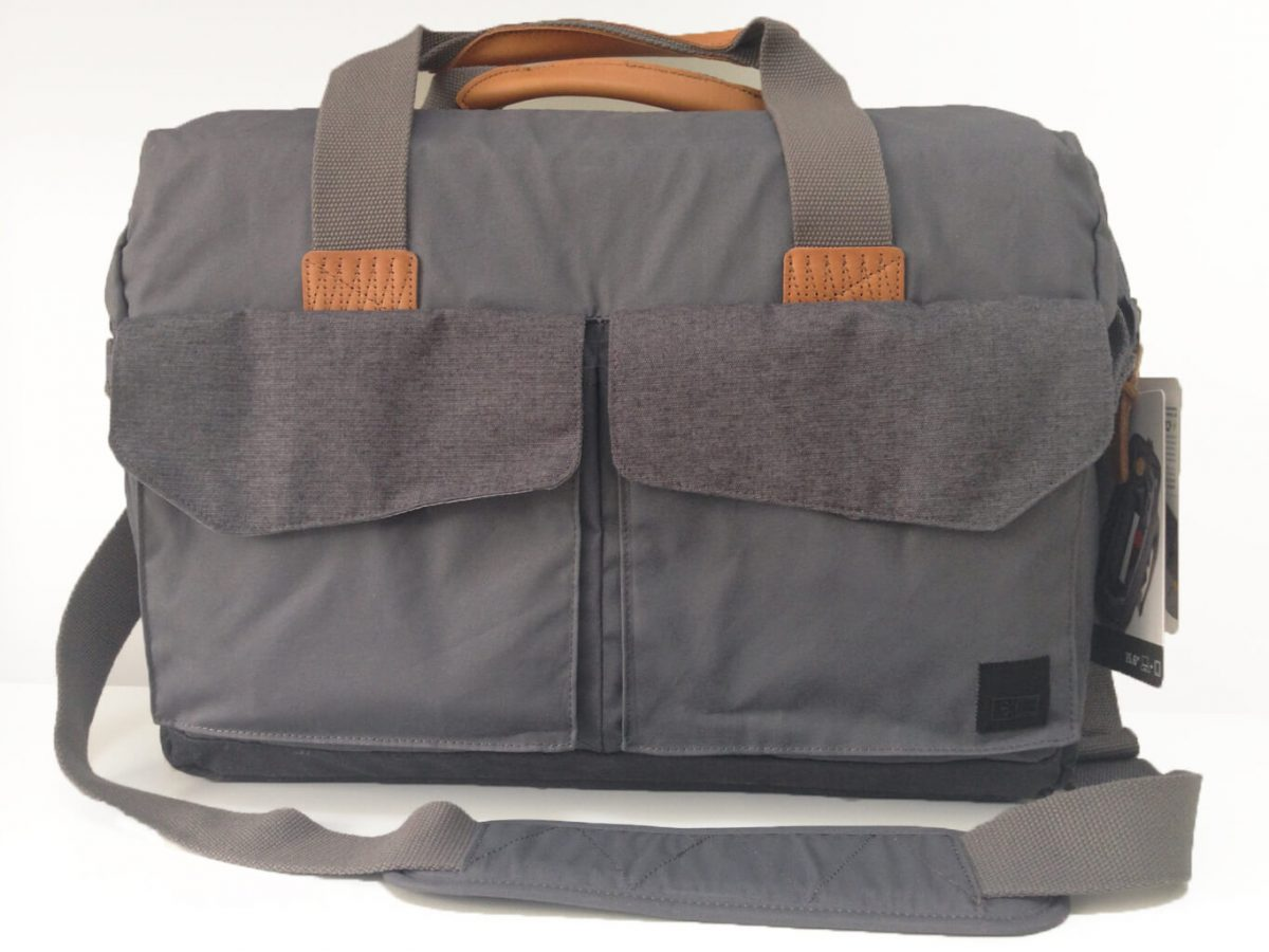 The LoDo Satchel from Case Logic- This time there is an alternative to being conservative. It's a stylish work bag and messenger bag with lots of storage space for laptops and tablets. There are plenty of compartments, leather trim, adjustable shoulder strap. Fashionable and smart business case.