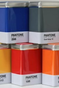 Pantone Universe kitchen storage containers / tins from One Stop Colour shop will add colour to any kitchen or study. (Plus chance to win!) One Stop Colour Shop is the place to go for a wide range of beautiful Mugs and Accessories. Choose from Pantone ICE watches, Placemats