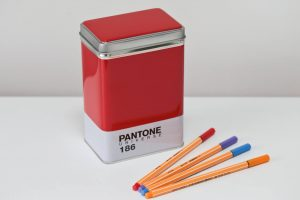 You don't need to keep Teabags in Pantone Universe storage tins. This Red one is useful for storing Felt Tips
