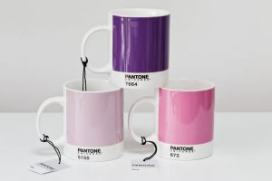 Pantone Universe Mug Set of 3 in purple and pink hues