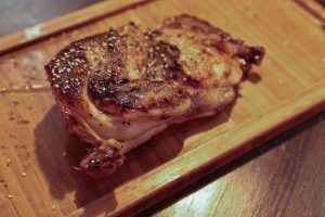 Son of Steak don't just do steak. Chicken looks delicious too on a wooden platter