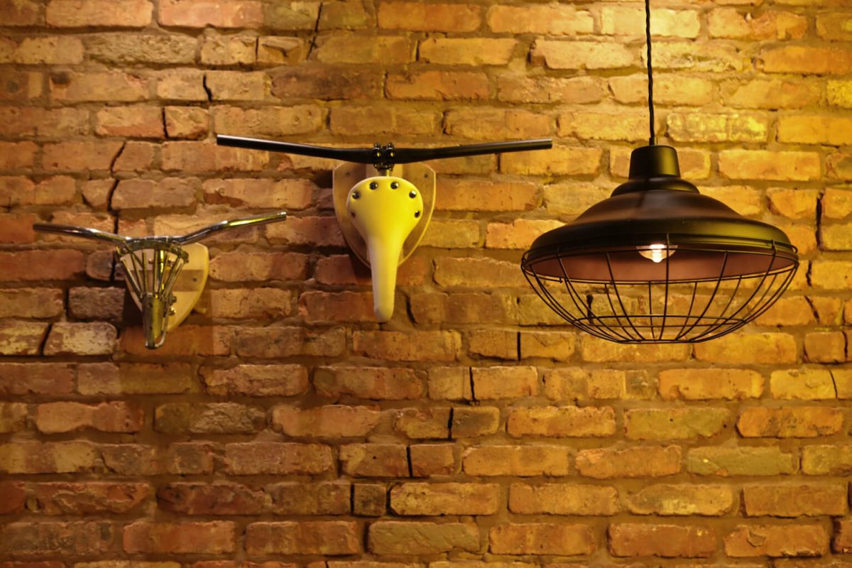 Son of Steak have a fantastic alternative taxidermy with bicycle seat cattle heads on the wall