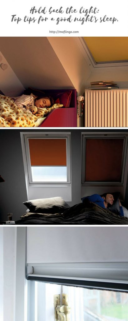 Top tips for minimising the light to create the perfect environment for a good night's sleep. Blackout blinds, shutters and curtains.