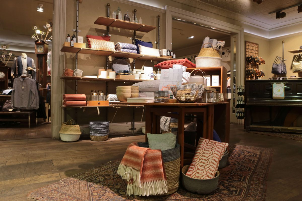 White Stuff Nottingham New homeware collection displays