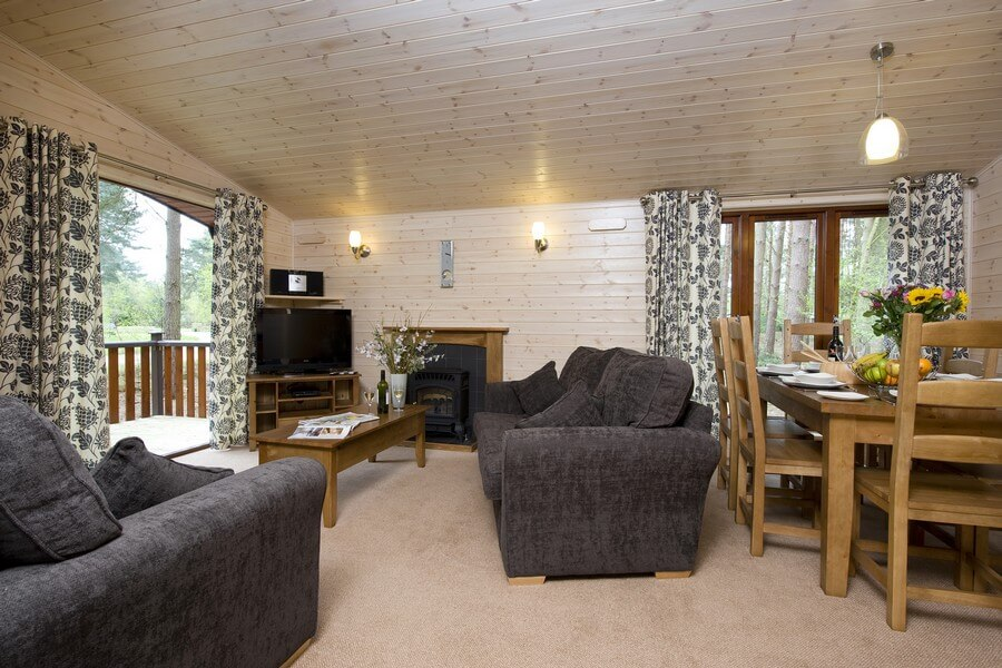 3 bed woodland lodge accommodation at Kelling Heath Holiday Park