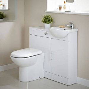Combination vanity cloakroom sink / basin in small bathroom ensuite