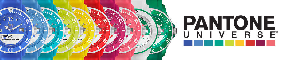 A selection of Pantone Universe Ice Watches from One Stop Colour Shop