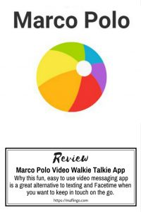 Marco Polo App Review. This fun, easy to use video Walkie Talkie messaging app is a great alternative to texting when you want to keep in touch on the go. The App works on iPhone or Android and makes it easy to leave messages when you can't text or facetime. There are even filters and a voice changer,