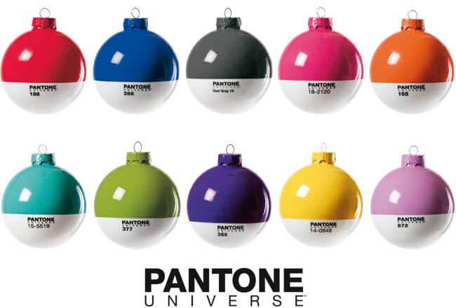 Pantone Christmas Baubles bySeletti