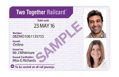 Two Together Railcard can save 1/3 on train ticket prices