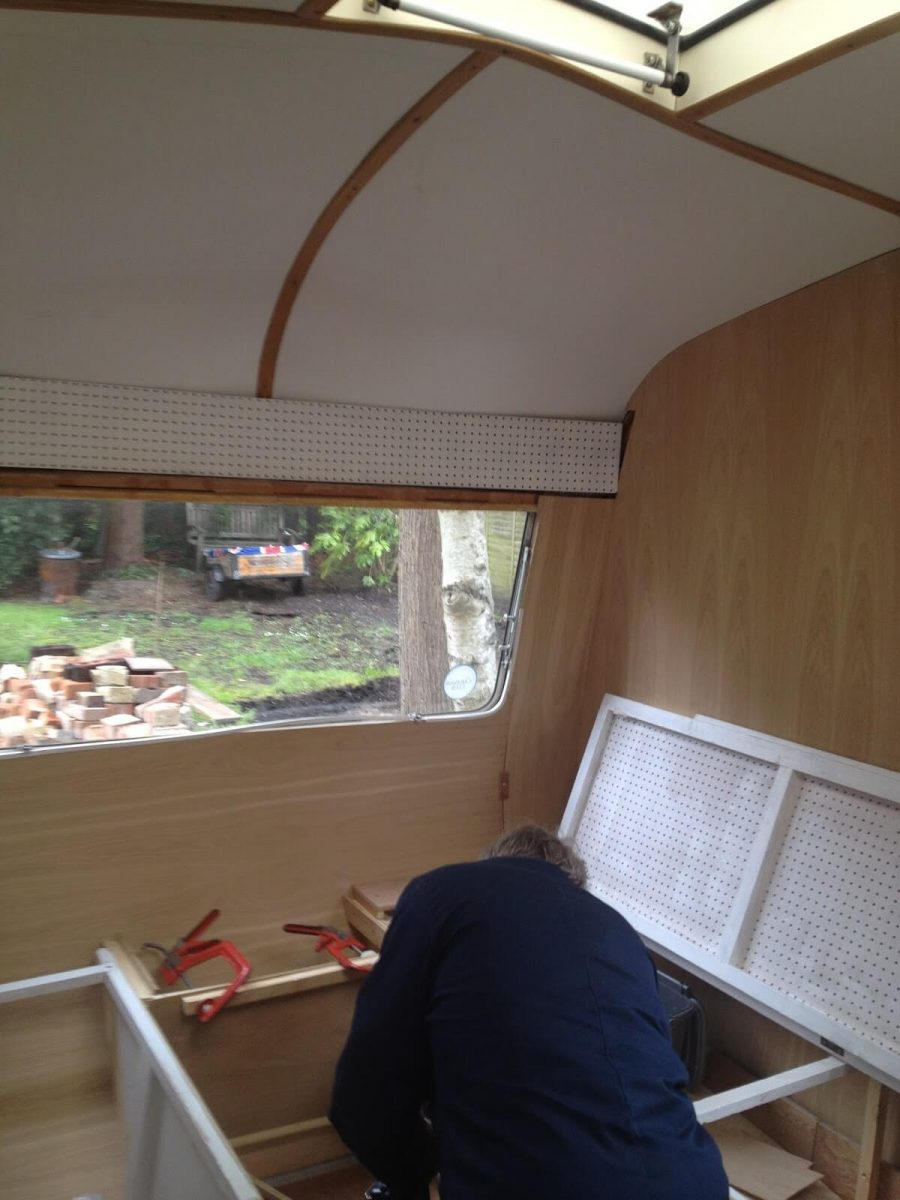 1969 Cheltenham Fawn Renovation Project stripped down interior