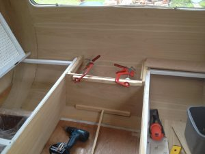 1969 Cheltenham Fawn Renovation Project : renovating the bench seat storage