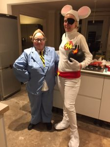 Tracey as Danger Mouse and her colleague as Penfold