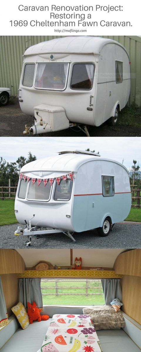 Renovation Project. Beautiful revamp of a 1969 Cheltenham Fawn Camper Caravan. This isn't just restoring to its former glory. It has exceeded it with handmade piped cushion covers, cushions and curtains and hand built oak interior. It is a thing of beauty. Practical for holidays and caravan trips too.