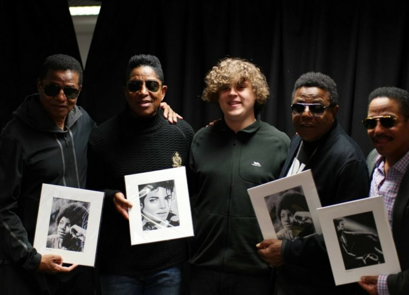 The day autistic artist Chris Baker met his heroes, The Jacksons.