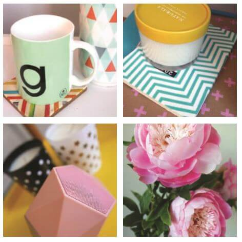 HomeSense Summer Trends Graphic: A montage of Graphic Accessories
