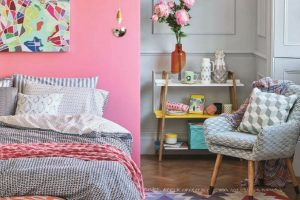 HomeSense Summer Trends Graphic Bedroom
