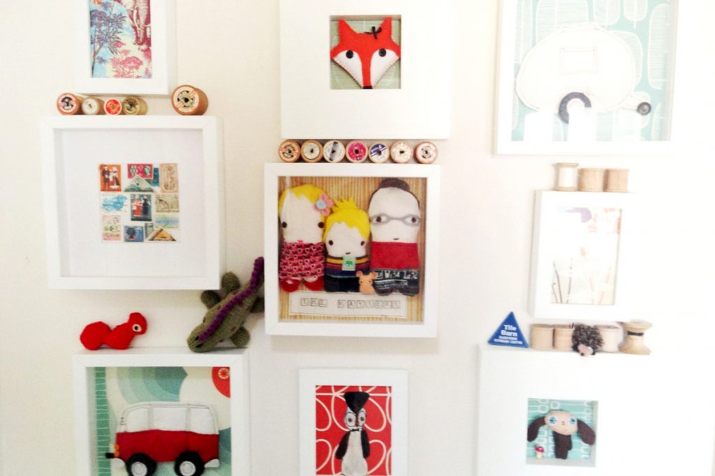 Save money by making your own wall art from photos, collectables and crafts