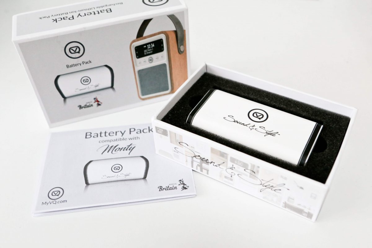 Monty DAB Digital Radio rechargeable battery pack
