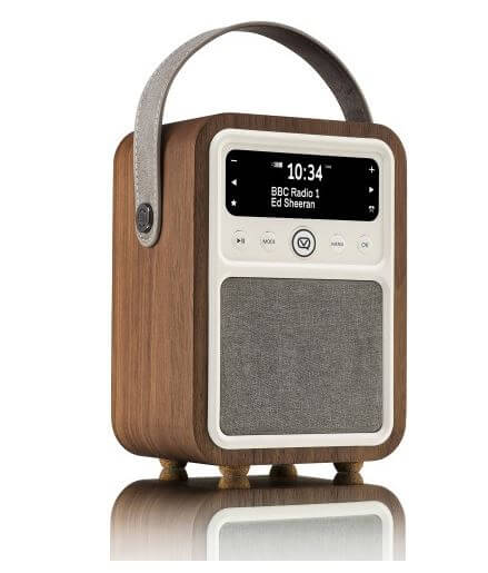 VQ Monty DAB Digital Radio in real Walnut case