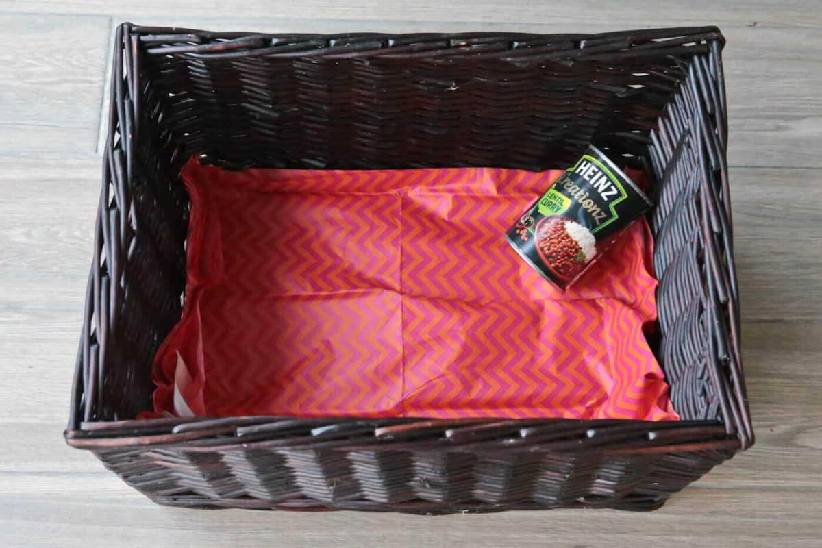 Day 1 of our Reverse Advent Calendar, a tin of soup is added to the basket for #FoodbankAdvent