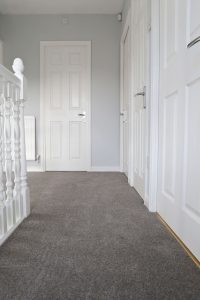 Lakeside Twist Wool Blend Hard Wearing carpet from United Carpets and Beds on our landing area