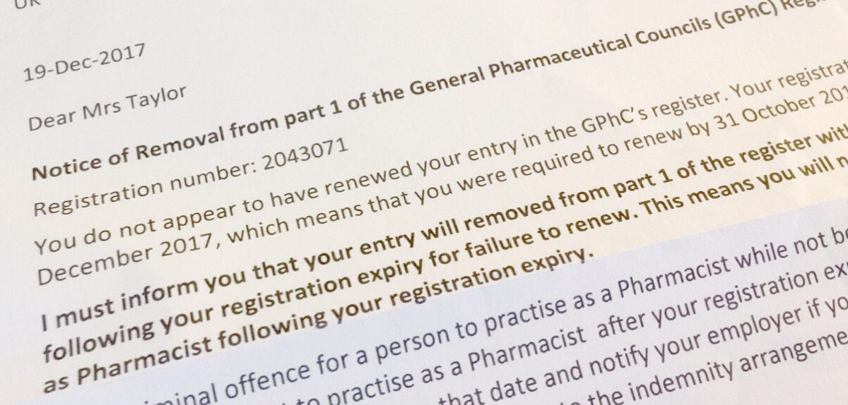 Pharmacy Deregistration Letter