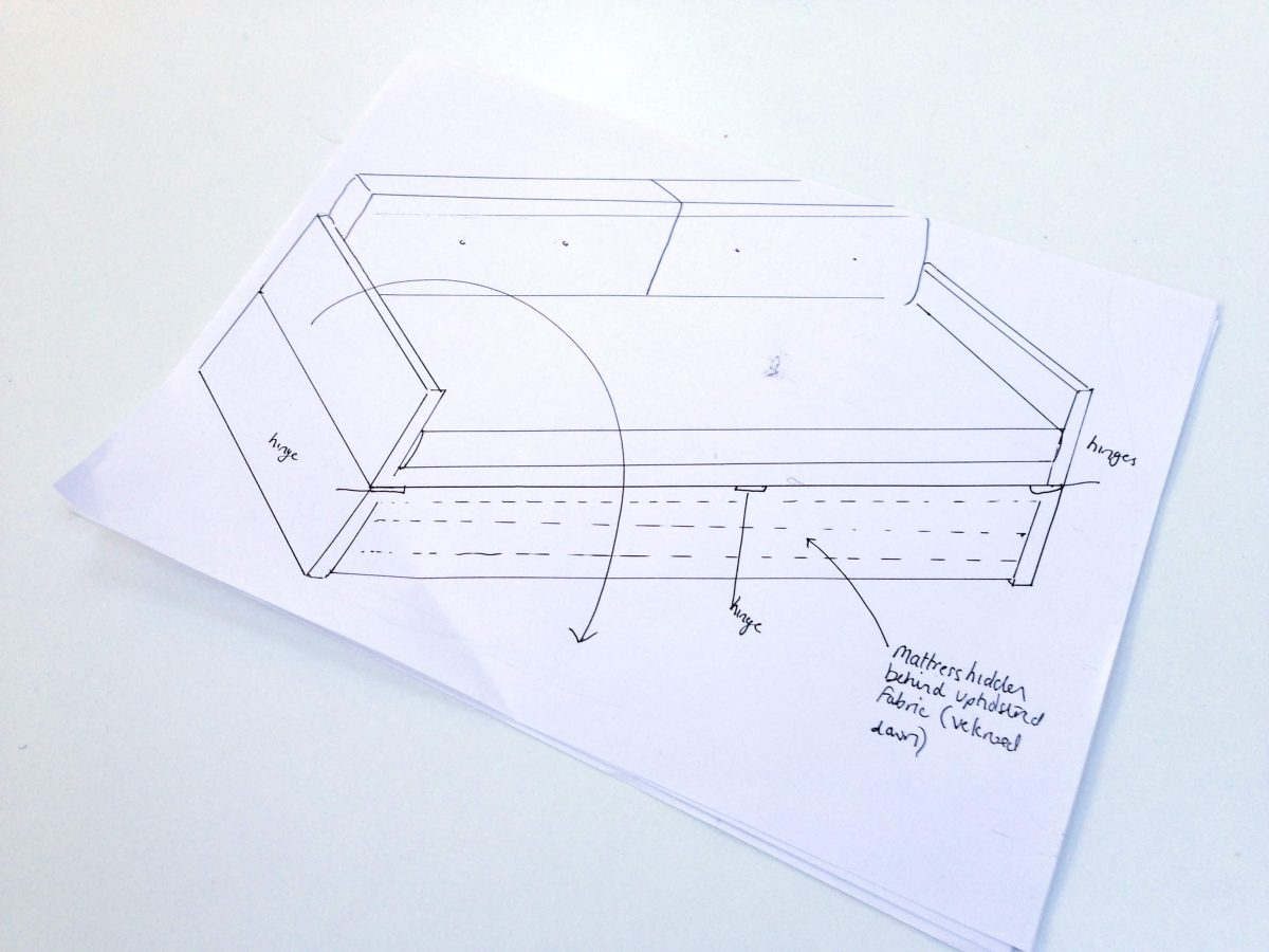 DIY Sofabed Day bed design plans