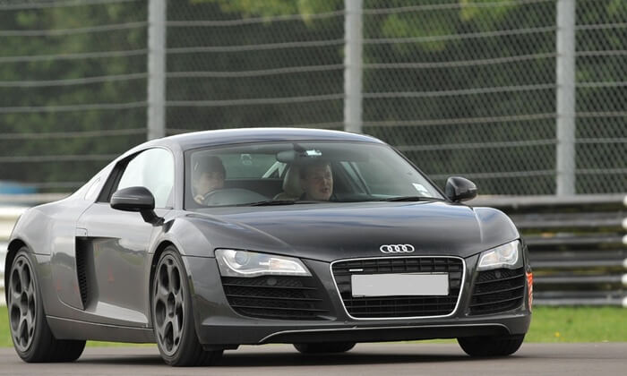 Audi R8 is one of the cars in the Supercar driving experience at Groupon.