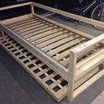 DIY Sofabed frame with trundle bed underneath with sprung slats