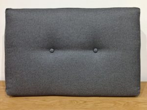 Upholstered sofa cushion (back) with removable zipped cover