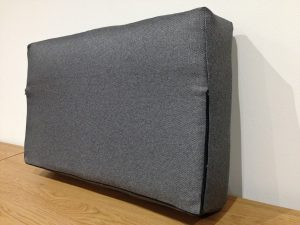 Back of upholstered sofa cushion (back) with removable zipped cover