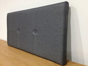 Sideview of Upholstered DIY headboard