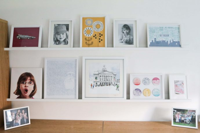 How we created the perfect gallery wall with Ikea Mosslanda picture ledges.
