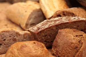 Collection of different types of bread